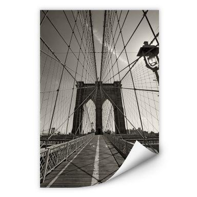 Wallprint W - Brooklyn Bridge Perspektive