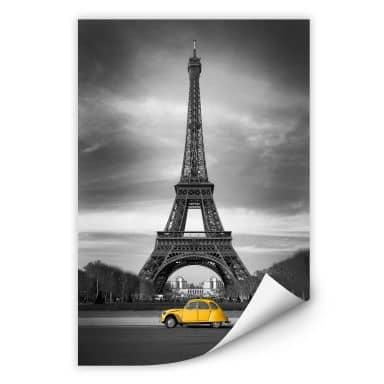 Wallprint La Vie est Belle - gelb