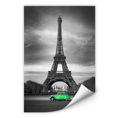 Wallprint La Vie est Belle - grün