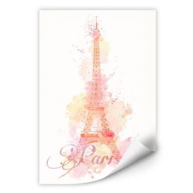 Wallprint La Tour Eiffel Aquarell