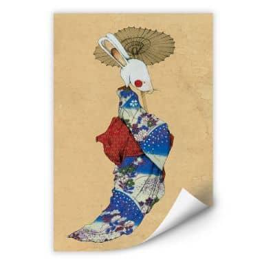 Wallprint Loske - Geisha Kaninchen 01