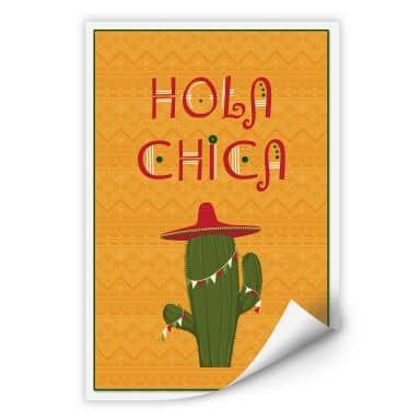 Wallprint Hola Chica