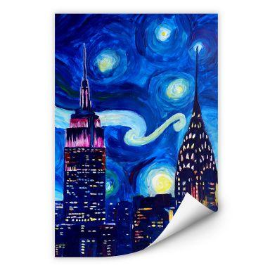 Wallprint Bleichner - New York bei Nacht