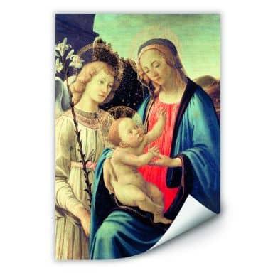 Wallprint W - Botticelli - Madonna mit Kind und einem Engel