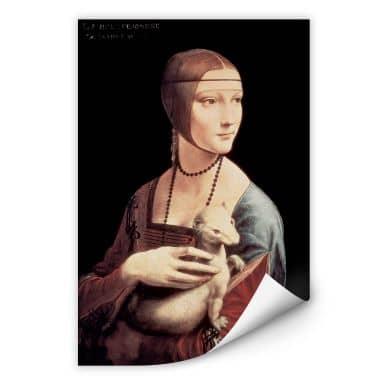 Wallprint W - Da Vinci - Die Dame mit dem Hermelin