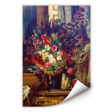 Wallprint Delacroix - Vase mit Blumen auf einer Konsole
