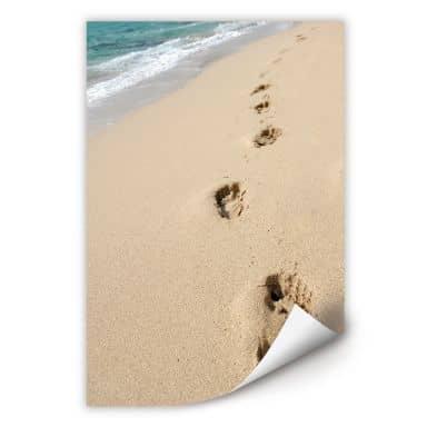 Muurprints Voetsporen in het Zand