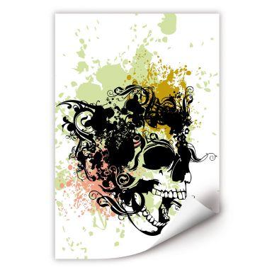 Wallprint W - Skull Tribal