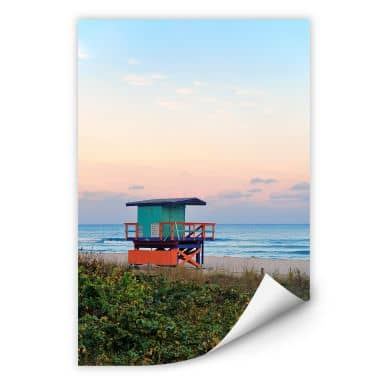 Wallprint W - Miami Rettungsschwimmerhäuschen