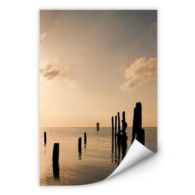Wallprint W - Posts at Sunset