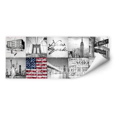 Wallprint Impressions of New York City - Panorama