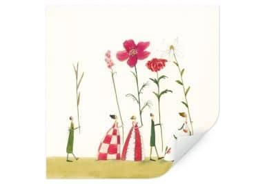 Wallprint Leffler -  Blumenträger