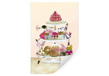 Wallprint Leffler - Muffin Glitzerparade
