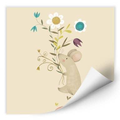 Zelfklevende Poster Loske - Little Mouse