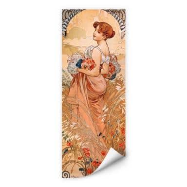 Wallprint W - Mucha - Jahreszeiten: Der Sommer 1900