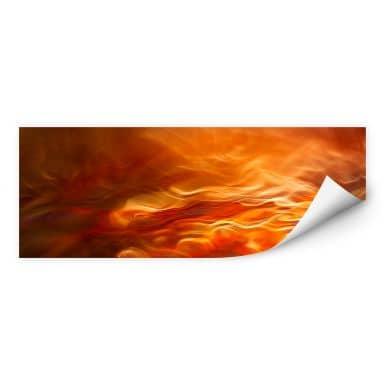 Zelfklevende Poster Marthinussen - Burning Water - panorama