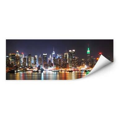 Wall print W - New York Skyline - Panorama