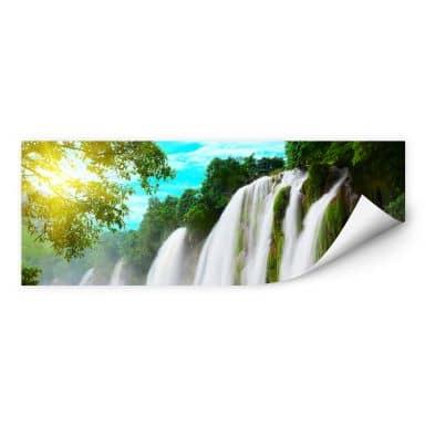 Wallprint W - Blaue Lagune - Panorama