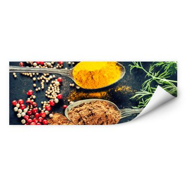 Wall print Variety of Herbs 04 - Panorama