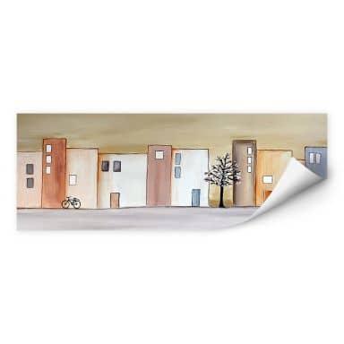 Wall print Melz - City Spring - Panorama