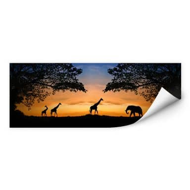 Wall print African Sunset