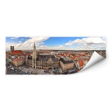 Wallprint W - Münchener Skyline Panorama
