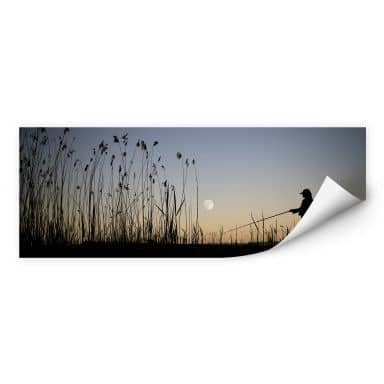Wallprint W - Angler im Mondschein