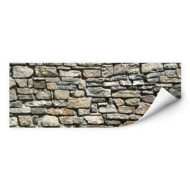 Wall print W - Natural stone wall - Panorama