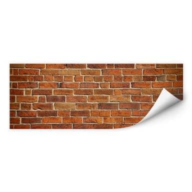 Wallprint W - Ziegelsteinmauer Panorama