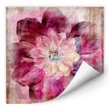 Wall Print Pink Peony