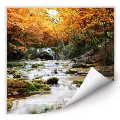 Wallprint W - Autumn Waterfall