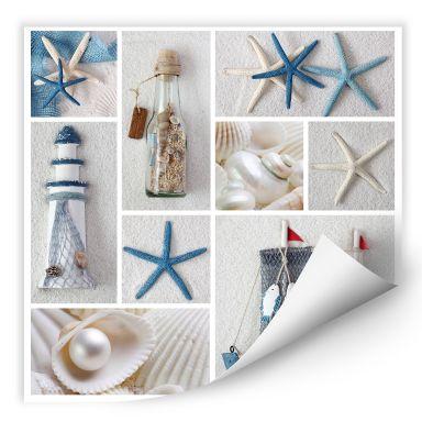 Wallprint W - Beach Collage