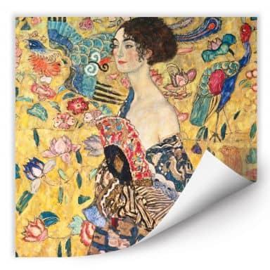 Wall print W - Klimt - Lady with fan
