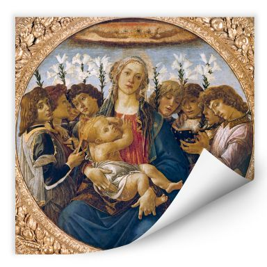 Wall Print Botticelli - Madonna with lillies and eight angels