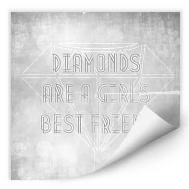 Wallprint W - Diamonds are a Girls best Friend