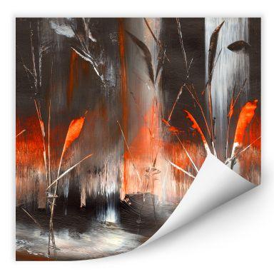 Wallprint W - Niksic - Feuer und Asche
