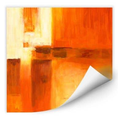 Wallprint W - Schüßler - Composition in Orange and Brown