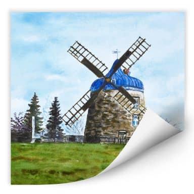 Wallprint Toetzke - Traditionelle Windmühle - quadratisch