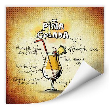 Wall print Pina Colada - Recipe