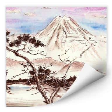 Wallprint Toetzke - Asian Landscape - quadratisch