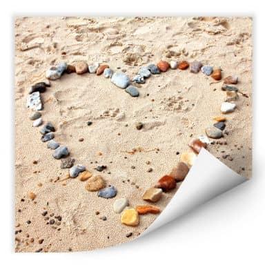 Wall print Love Beach - square