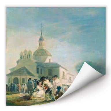 Wallprint de Goya - Die Einsiedelei des hl. Isidor
