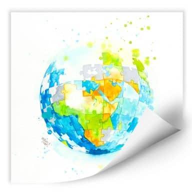 Wallprint Buttafly - Worldpuzzle