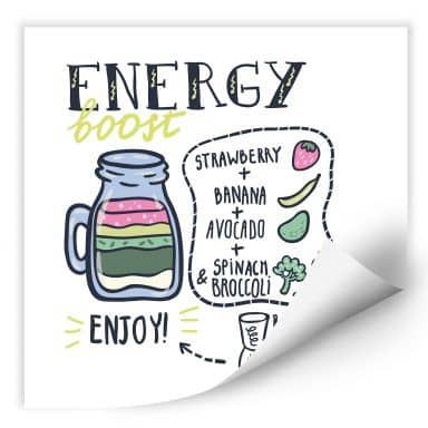 Wallprint Energy Boost - quadratisch