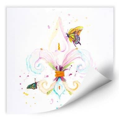 Wallprint Buttafly - Fleur de Lil
