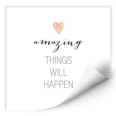 Wallprint Confetti & Cream - Amazing things will happen
