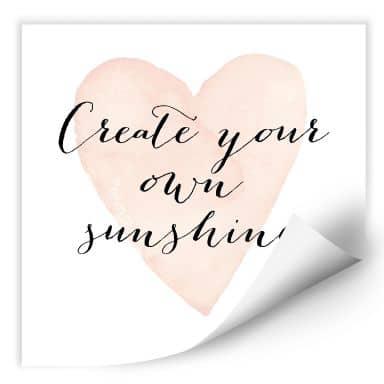 Wallprint Confetti & Cream - Create your own sunshine