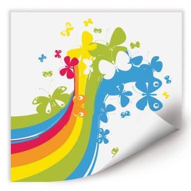 Wallprint W - Butterfly Rainbow