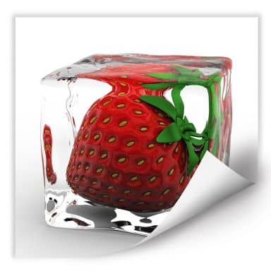 Wall print W - Strawberry Ice Cubes