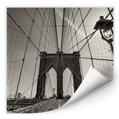 Wallprint W - Brooklyn Bridge Perspektive - quadratisch